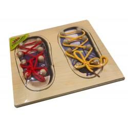 Рамка-вкладыш 2 ботинка со шнуровкой