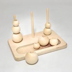 Дидактическая пирамидка с лоточком