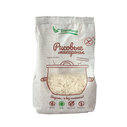 Макаронные изделия из рисовой муки Вермишель 250 гр
