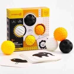 Набор развивающий: тактильные мячики и обучающие карточки по методике Гленна Домана